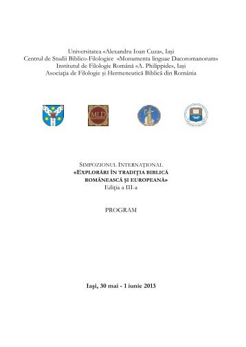 Program - ConsILR - Universitatea Alexandru Ioan Cuza