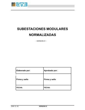 SUBESTACIONES MODULARES NORMALIZADAS - UTE