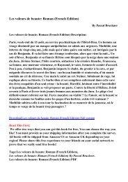 Les voleurs de beaute: Roman (French Edition)