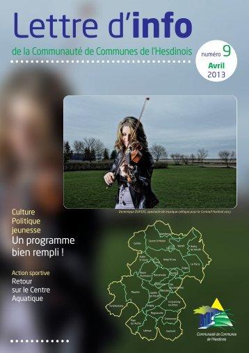lettre cc hesdin 9:Mise en page 1 - Communauté de Communes de l ...