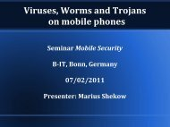 Viruses, Worms and Trojans on mobile phones - cosec