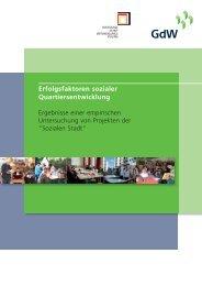 Erfolgsfaktoren der sozialen Quartiersentwicklung - Analyse ...