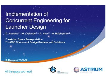 Implementation of Concurrent Engineering for Launcher Design