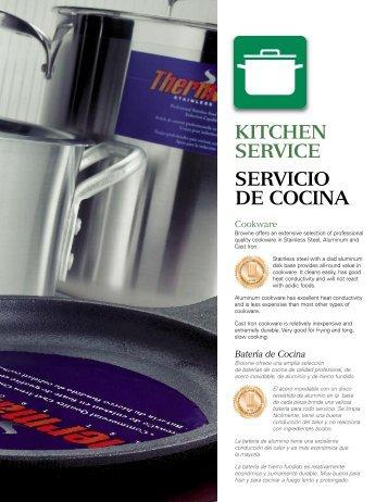 KITCHEN SERVICE SERVICIO DE COCINA