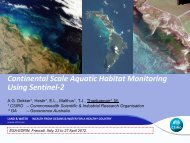 Continental Scale Aquatic Habitat Monitoring Using Sentinel-2