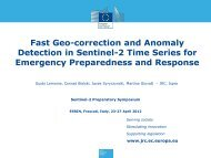 Fast Geo-Correction and Anomaly Detection in Sentinel-2 Time ...