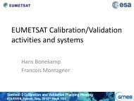 Sentinel-3 Cal/Val Planning Meeting - Home - ESA Conference ...