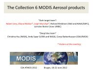 The Collection 6 MODIS Aerosol Data Products