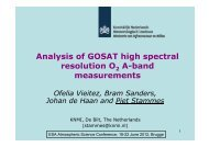 Analysis of GOSAT high spectral resolution O A-band measurements