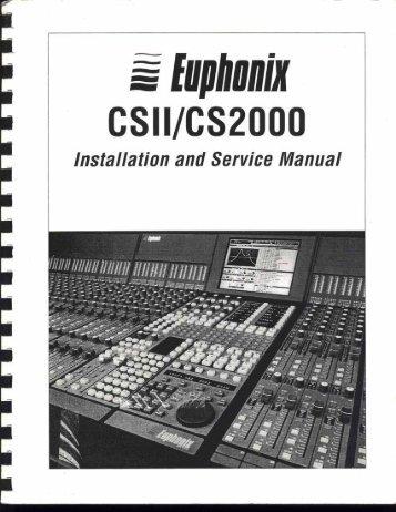 Euphonix Eucon manual