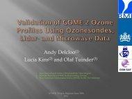 Validation of ozone profiles within O3MSAF