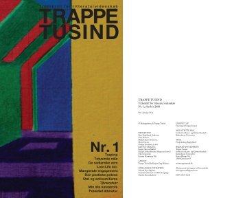 Tidsskrift for litteraturvidenskab Traptrip Totusinde ... - Trappe Tusind