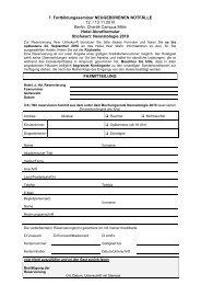 7. Fortbildungsseminar NEUGEBORENEN NOTFÄLLE 12. / 13.11 ...