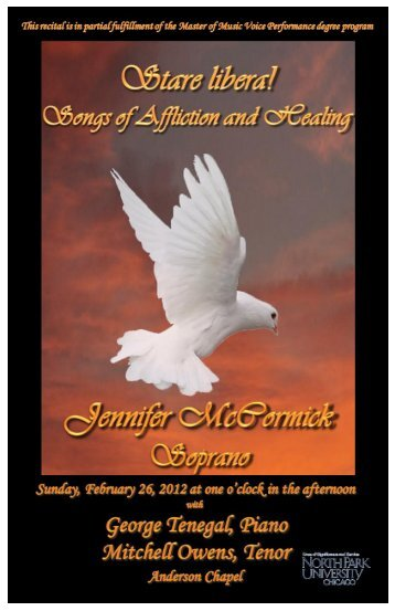 Stare libera! Songs of Affliction and Healing - Jennifer McCormick
