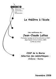 Le théâtre à l'école Jean-Claude Lallias - Cndp
