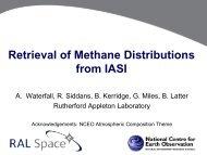 Retrieval of Methane Distributions from IASI