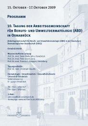 Programm 10. Tagung der Arbeitsgemeinschaft - diese Seite ...
