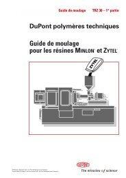 Guide de moulage pour les résines MINLON® et ZYTEL® - Plastics ...