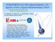 Air Quality from a Quasi-Geostationary Orbit