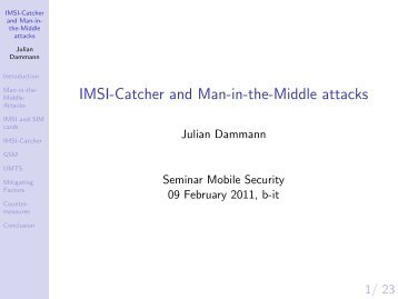 IMSI-Catcher and Man-in-the-Middle attacks - cosec
