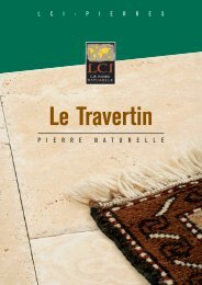 Catalogue Le Travertin - LCI Pierres