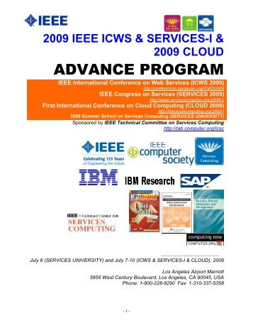 ADVANCE PROGRAM - IEEE Computer Society
