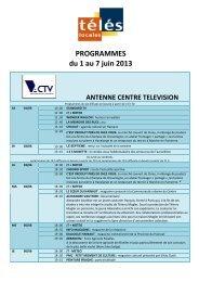 Programmes TV loc semaine 130522 du 1er au 7 juin