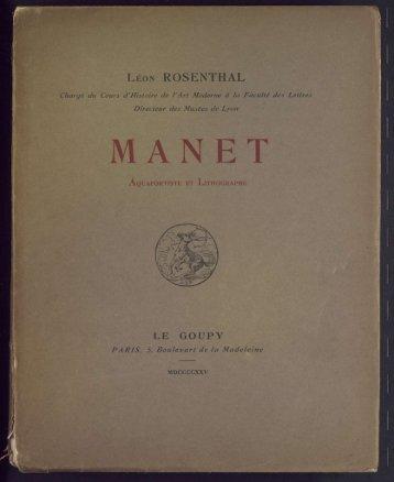 Manet aquafortiste et lithographe - Centre Georges Chevrier