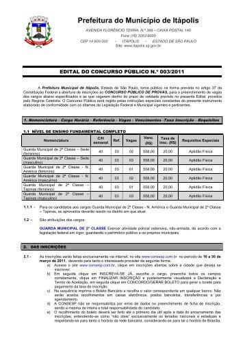 Abertura Edital guarda municipal - Jornal dos Concursos