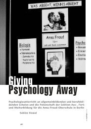 Giving psychologie away - Anna-Freud-Oberschule