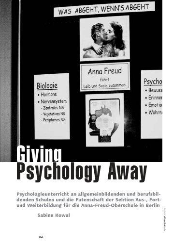 Giving psychologie away - Anna-Freud-Oberschule