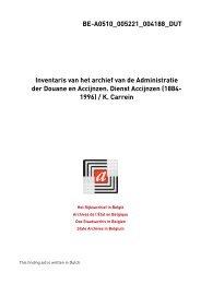 Ministerie van Financiën. Administratie der Douane en Accijnzen ...