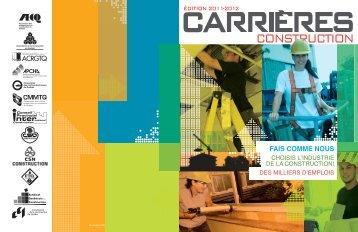 Métiers et occupations dans l'industrie de la construction