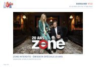 semaine n°22 zone interdite - émission spéciale 20 ans - M6 Publicité