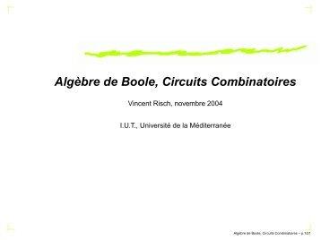 Exo algebre de boole avec ou exclusif for Circuits combinatoires