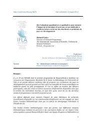1 Des évaluations quantitatives et qualitatives pour mesurer l'impact ...