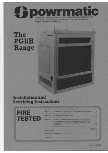 PGUH Service Manual - Powrmatic