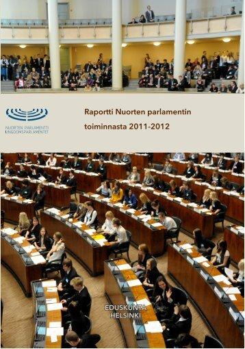 Raportti Nuorten parlamentin toiminnasta 2011-2012 - Kerhokeskus