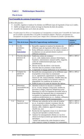 Unité 4 - Mathématiques financières (750 Ko) - Cforp.ca