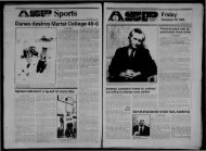 Albany Student Press 1982-11-19 - University at Albany Libraries
