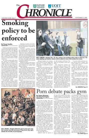 Smoking policy to be enforced - Digilog at UOIT and DC - Durham ...