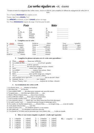 Les verbes réguliers 2e groupe - ir.pdf - Webnode