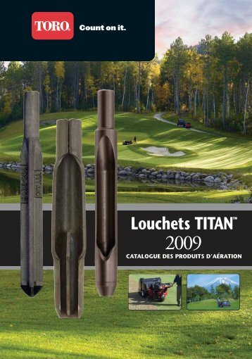 Catalogue de louchets Titan - Toro