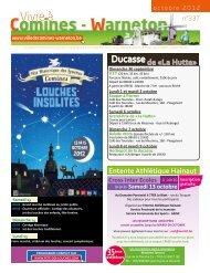 Octobre 2012 - Ville de Comines-Warneton