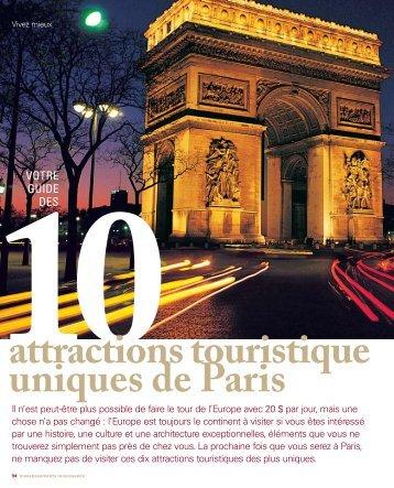 attractions touristique uniques de Paris - Investissements Renaissance