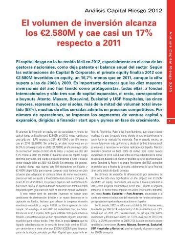 Análisis Capital Riesgo 2012 - Capital & Corporate