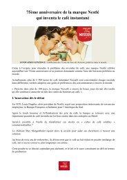 75ème anniversaire - Nestlé Professional