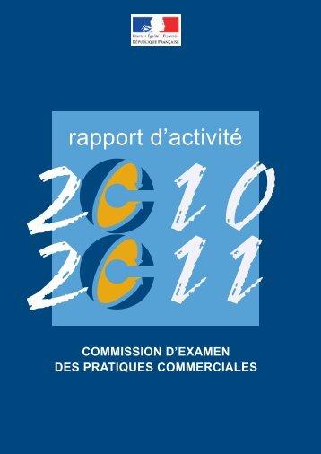 Le rapport d'activité 2010/2011 de la CEPC - pdf - economie.gouv