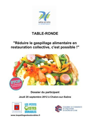 "TABLE-RONDE ""Réduire le gaspillage alimentaire en restauration ..."