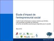 Etude d'impact de l'entrepreneuriat social - entrepreneur-social.net